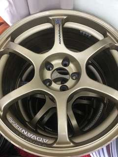 ADVAN racing RG2 origonal 17-8.0  et37 5-100
