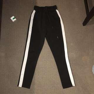 White Stripe Sweatpants  (High Waisted)