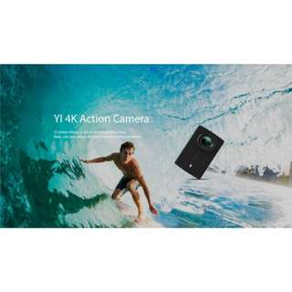 YI 4K Action Camera (Black) with Waterproof Case (Free Gift Screen Protector, Frame Case and Lens Cover)