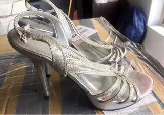 Gibi Silver Formal Sandals