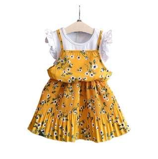 Girls Fly shoulder Shoulder Two Dresses