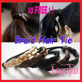 Hair Tie Rubber band Braided Style