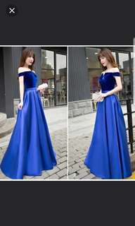 Dual tone royal blue Dress / evening dress