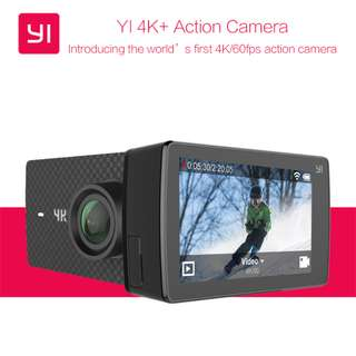 YI 4K+ Action Camera (Black) (4K Video up 60 fps) with Free Waterproof Case