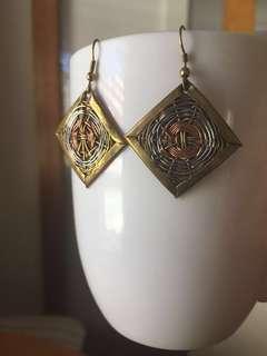 Vintage earrings 1985