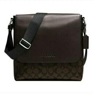 Authentic Coach F71765 Mens Sullivan Messenger Bag Signature Crossbody Messenger Sling Bag