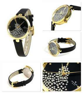 Authentic Kate Spade Holland Black Crystal Watch