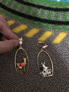 N2 Snow White earring 白雪鹿仔耳環