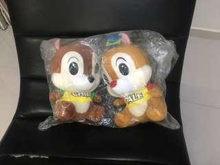 Cute couple chipmunks