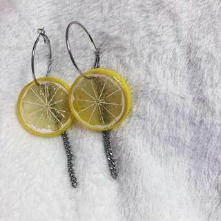 檸檬片耳環