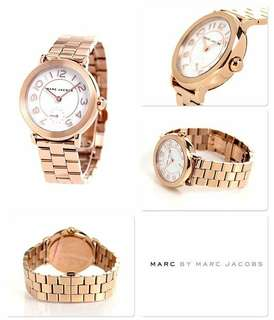 Authentic Marc Jacobs Women's Riley Gold Watch
