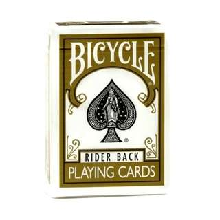 Bicycle Rider Back Gold Playing Cards