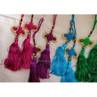 2PC Chinese Knot Tassel Lucky Charm Decoration, Gift–Set A