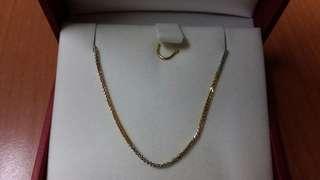 Necklace周大福 CTF 18k3色金頸鍊