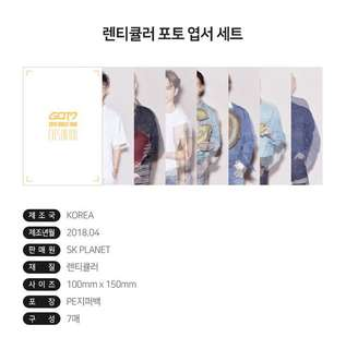 Quick Preorder! Official GOT7 2018 World Tour Eyes On You - Lenticular Photo Postcard Set concert goods
