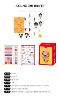 Quick preorder! Official GOT7 2018 World Tour Eyes On You - Speed Game Come And Get It concert goods card set