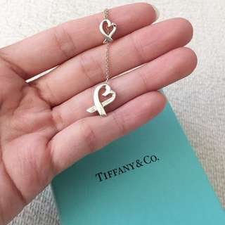 AUTHENTIC TIFFANY & CO Heart Lariat Necklace