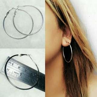 Anting Hoops 5cm Silver