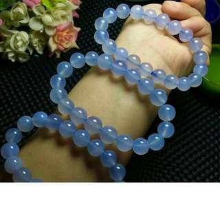 天然藍玉髓手串