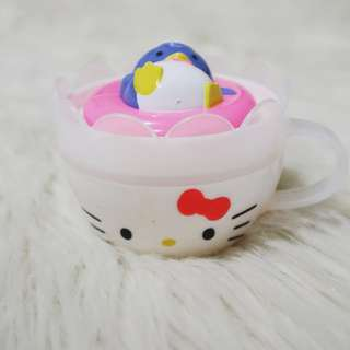 MAY2018 : MC DONALD'S HAPPY MEAL USA EXCLUSIVE HELLO KITTY TOY TEA CUP WITH PENGUINE LID 3pcs available
