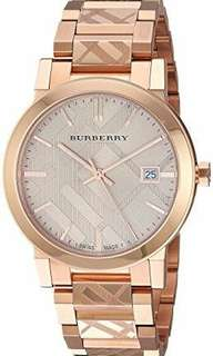 Authentic Burberry Women's Rose Gold Watch