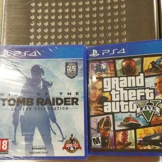 全新 New Gta 5 and tomer raider collection
