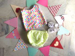 🆕JUNIPER BABY GIRL'S BLOOMER SET for (newborn - 6 months)