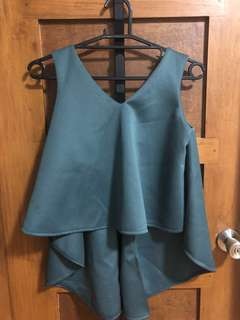 Blue Green open back top