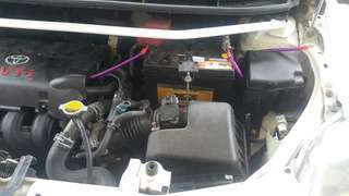 toyota vios strut bar & anti roll bar custom
