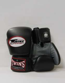TWINS Duo-Tone Boxing Gloves in Grey