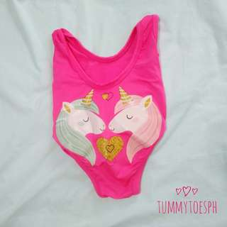 Unicorn Pink Baby Swimsuit 0-6 mos