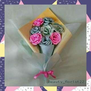 Bucket flower (8 tangkai)