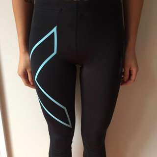 2XU 3/4 length compression tights size S