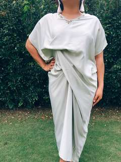 Soraya Kaftan (Short Sleeve) in Pearl Green, Dusty Pink & Royal Blue