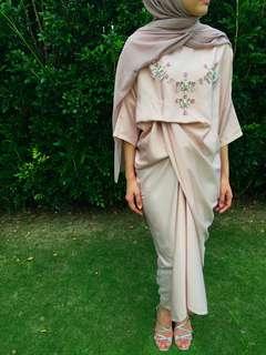 Fatimah Kaftan (Quarter Sleeve) in Dusty Pink