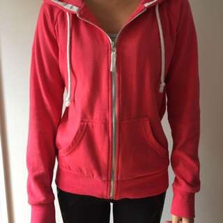 Pink Cotton On zip hoodie size S