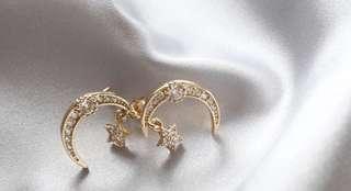 日本購入全新14k鋯石耳環