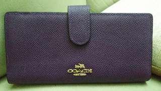 Coach Wallet 深紫色 銀包
