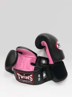 TWINS Duo-Tone Boxing Gloves In Candy Pink
