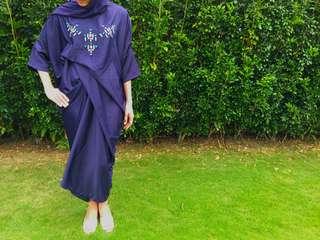Fatimah Kaftan (Quarter Sleeve) in Royal Blue