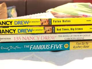 Nancy drew/famous five books