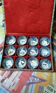 Zodiac Porcelain Teacups