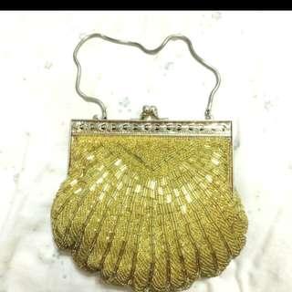 ✨古董手工縫珠晚宴包✨