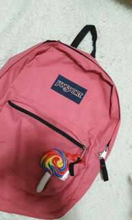 Authentic Pink Jansport Bagpack