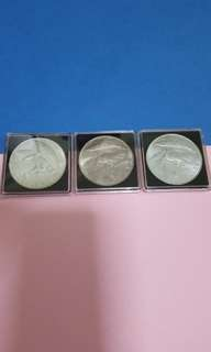 Set of 3pcs silver eagle 1972-1973-1974