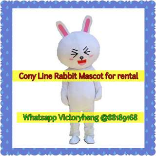 Cony Line Rabbit Mascot for rental