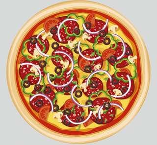58 吋「芝」味卡樂B Pizza 毛巾