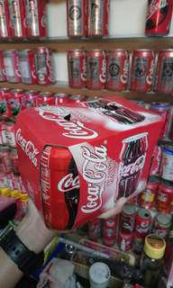 Coca cola 超絕版contour cans 6 can pack