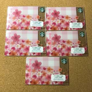 [Nice Number] Singapore Starbucks Sakura Card 2018