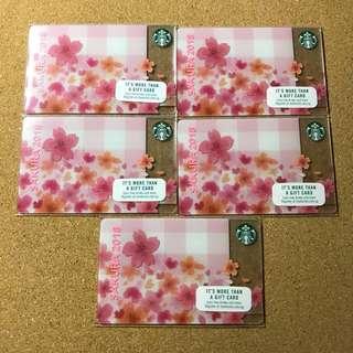 [Nice Number] Singapore Starbucks Sakura Card 2018